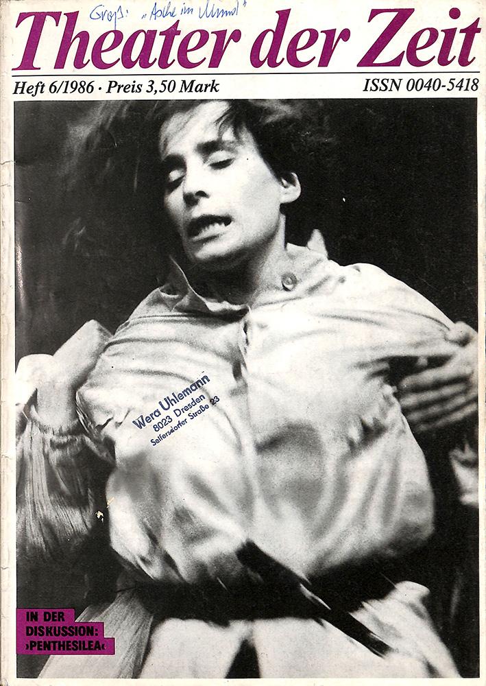 Журнал. «Theater der Zeit». № 6. 1986 г.