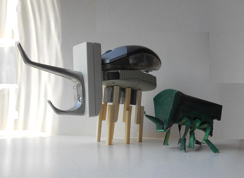 Кукольные миниатюры.  Марсианский жук (1986); Марсианский жук (2020). Акишин А.Е.