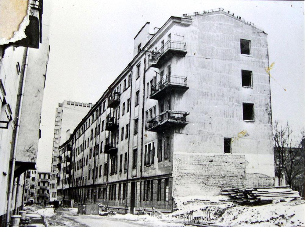 Адрес М.А. и Е.С. Булгаковых: Нащокинский переулок (Улица Фурманова), д.3. 1930-е гг.