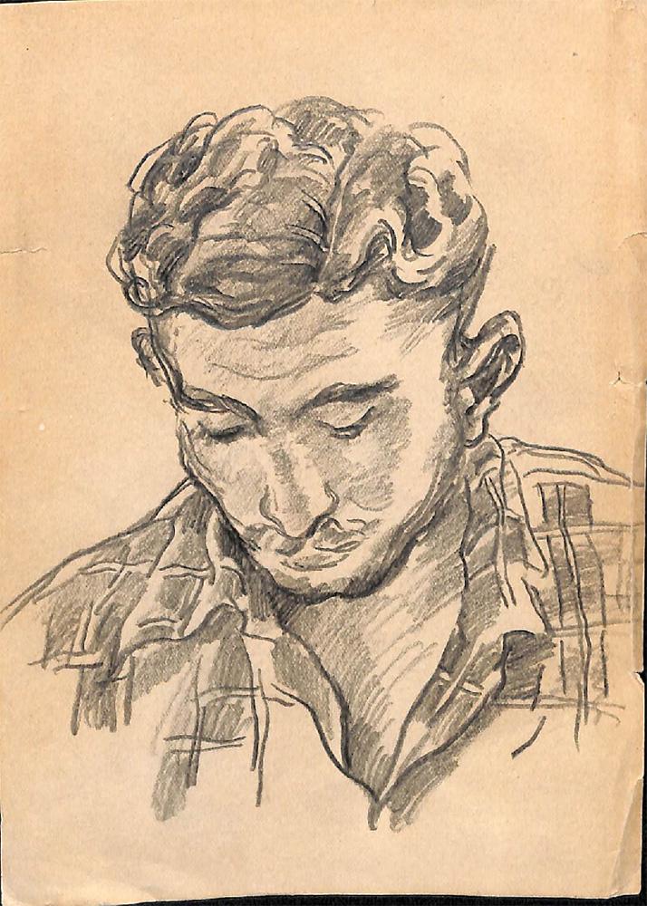 Набросок [В.И. Переяславец]. 1930-е годы. Кончаловский П.П.