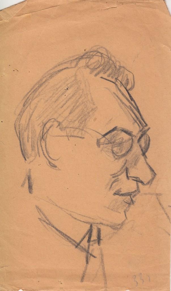 Набросок. Бархударян Александр Васильевич. 1933 г. Сарьян М.