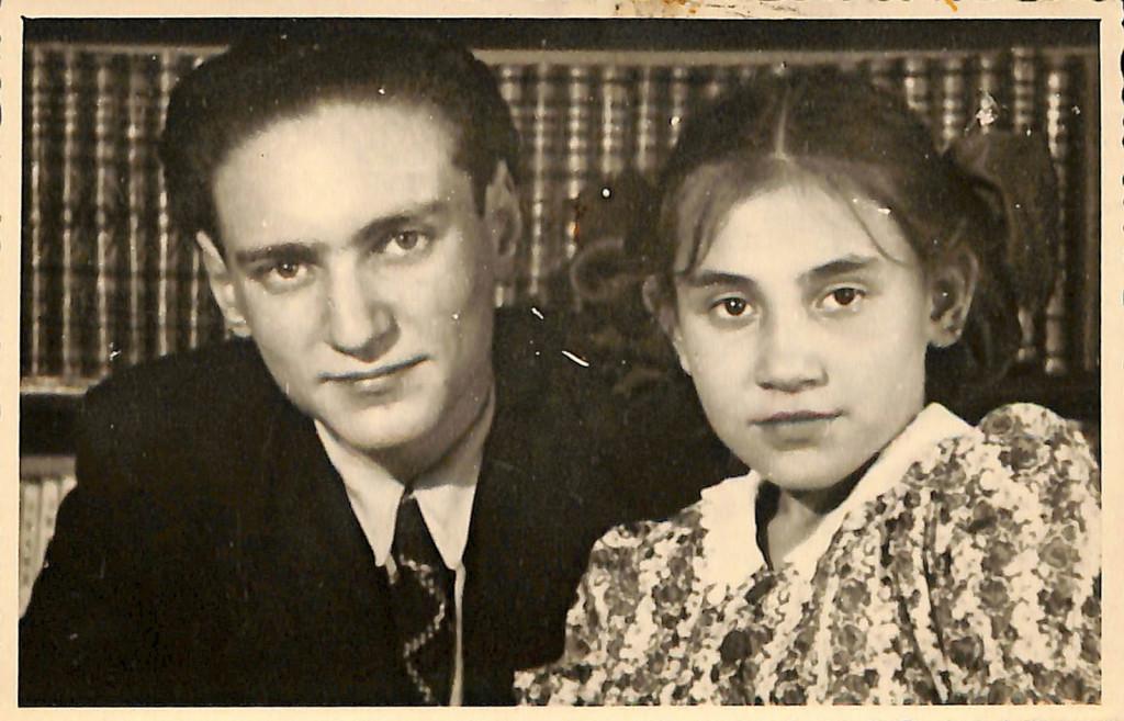 Фотография. Стонов Леонид Дмитриевич и Стонова Елена Дмитриевна. 1950 г.