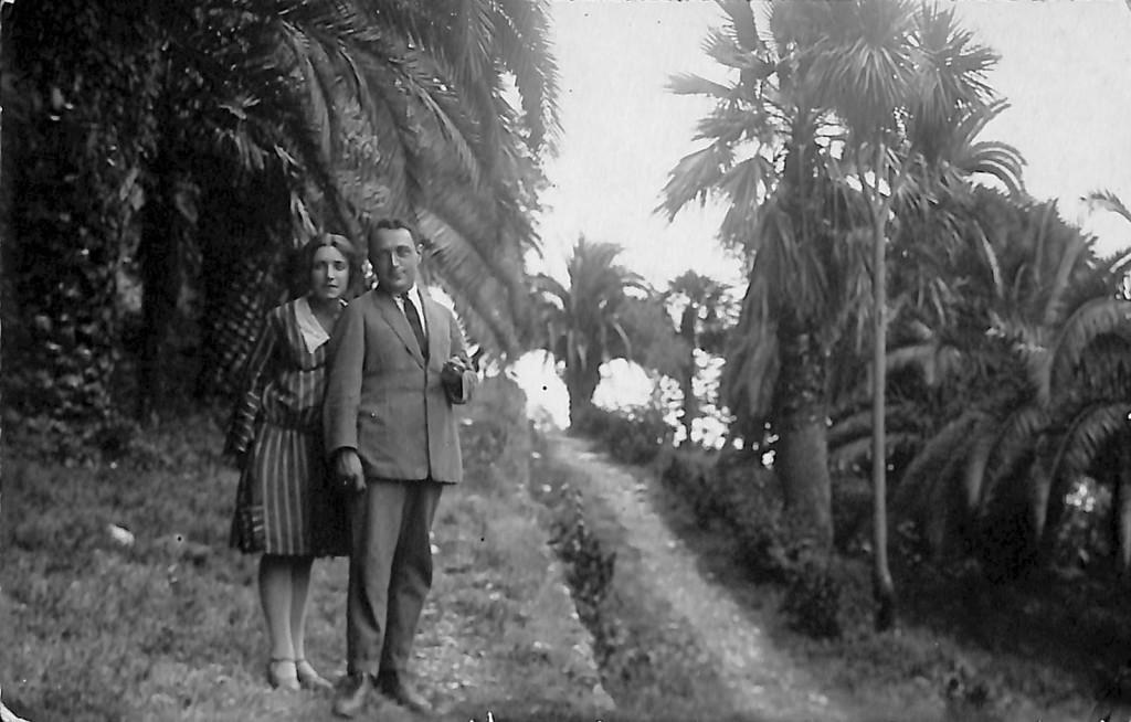 Фотография. Стонов Дмитрий Миронович и Идлин Анна Зиновьевна. 1928 г.