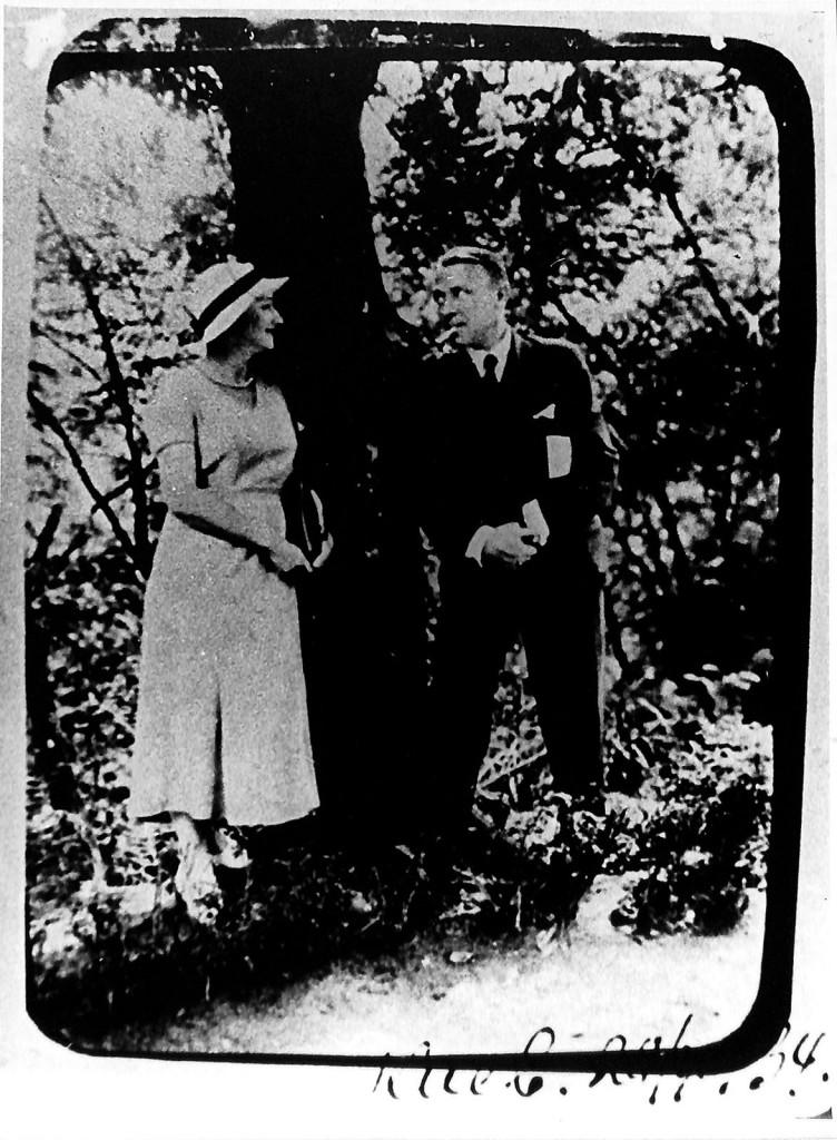 Фотография. Булгаков Михаил Афанасьевич и Булгакова Елена Сергеевна. Киев. 1934 г.