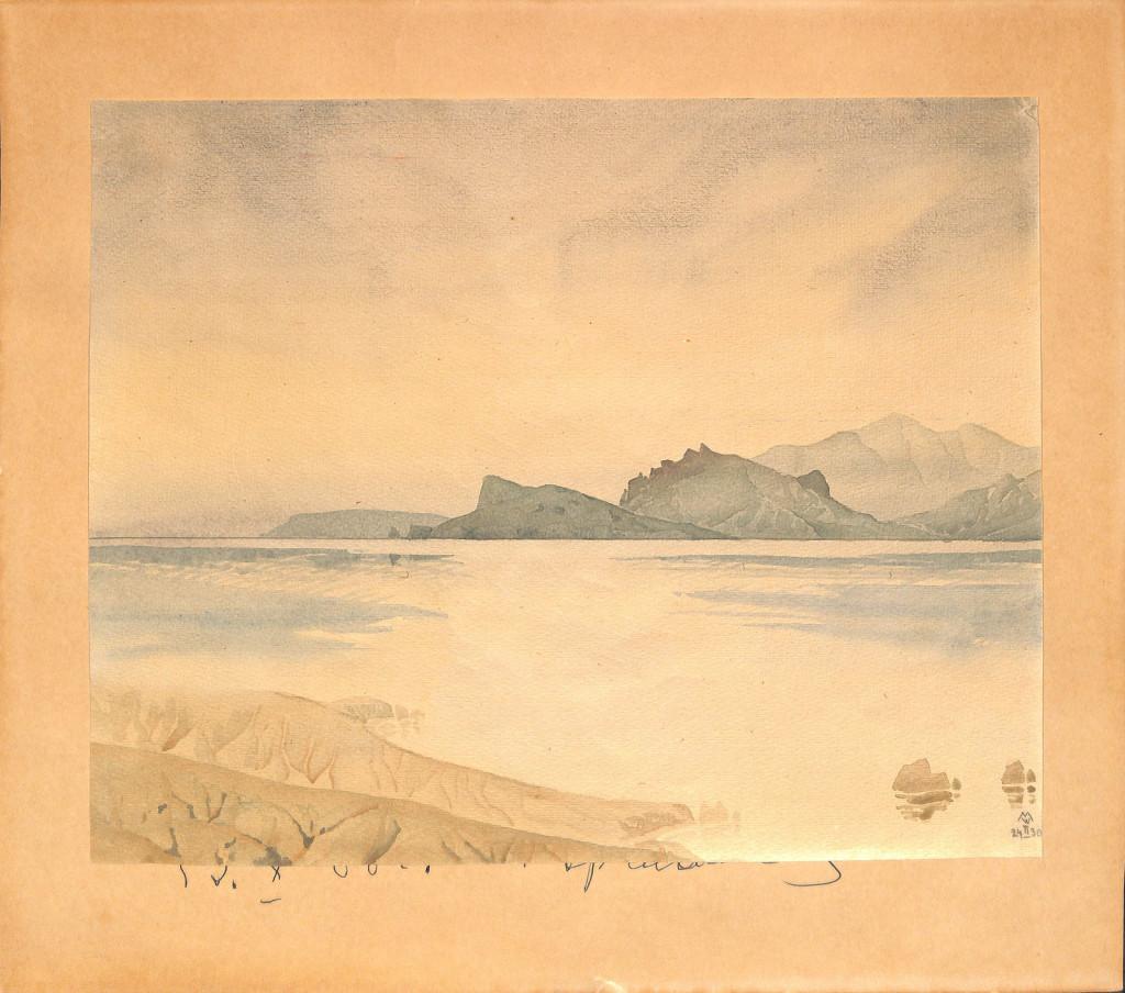Морской пейзаж. 1930 г. Волошин М.А.